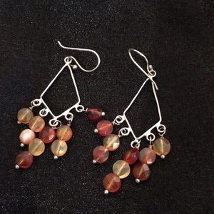 Jewelry - Citrine silver dangle earrings